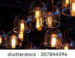 gold lighting decoration ... | Shutterstock . vector #307844396