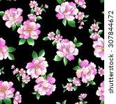 flower pattern   Shutterstock .eps vector #307844672