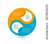 vector circle infographic... | Shutterstock .eps vector #307852052
