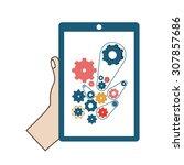 technology digital design ... | Shutterstock .eps vector #307857686