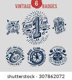 vintage badges logo set.... | Shutterstock .eps vector #307862072