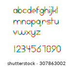 overlapping colorful rounded... | Shutterstock .eps vector #307863002