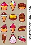 Confectioner Icon Sweet Vector...
