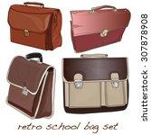 school bag isolated | Shutterstock .eps vector #307878908