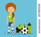 people sport design  vector... | Shutterstock .eps vector #307885058