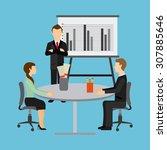 team work design  vector... | Shutterstock .eps vector #307885646