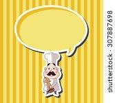 chef theme elements vector eps | Shutterstock .eps vector #307887698