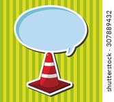 warning cones theme elements | Shutterstock .eps vector #307889432