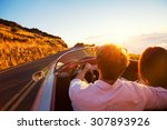 driving into the sunset.... | Shutterstock . vector #307893926