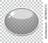 vector glass button template | Shutterstock .eps vector #307896272