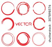 zen circle set  circle... | Shutterstock .eps vector #307898576