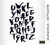 expressive calligraphic script... | Shutterstock .eps vector #307916558
