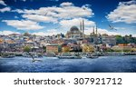 istanbul the capital of turkey  ... | Shutterstock . vector #307921712