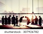 business people japanese... | Shutterstock . vector #307926782