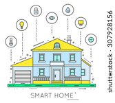 smart home infographic. concept ...   Shutterstock .eps vector #307928156
