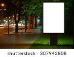 Blank Advertising Billboard In...