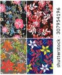 floral seamless pattern  ... | Shutterstock .eps vector #307954196