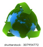 Globe And Recycle Symbol   Thi...