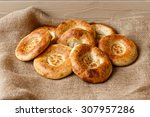 tasty tandoor baked bread on... | Shutterstock . vector #307957286