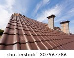 New Red Tiled Roof With Chimneys