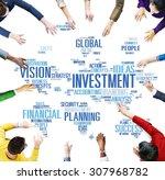 investment global business...   Shutterstock . vector #307968782