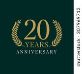 20 years old luxurious logo.... | Shutterstock .eps vector #307969712