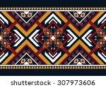 geometric ethnic pattern... | Shutterstock .eps vector #307973606
