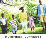 african family happiness... | Shutterstock . vector #307980965