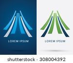 mountain   tent  abstract ... | Shutterstock .eps vector #308004392