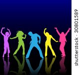 dance silhouette floor dancer... | Shutterstock .eps vector #30801589