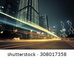the city and the road at night | Shutterstock . vector #308017358