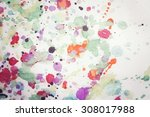 vintage painted background | Shutterstock . vector #308017988
