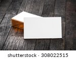thick white cotton paper... | Shutterstock . vector #308022515