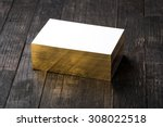 thick white cotton paper... | Shutterstock . vector #308022518