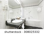 bathroom interior  | Shutterstock . vector #308025332