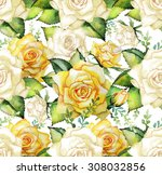 Watercolor Yellow Roses....