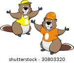 Draw Of Funny Beaver Working I...