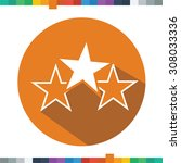 flat three stars icon in a... | Shutterstock .eps vector #308033336