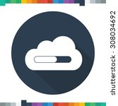 flat loading cloud icon in a... | Shutterstock .eps vector #308034692