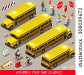 school bus. back to school... | Shutterstock .eps vector #308039672