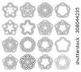 set of magic knotting circles.... | Shutterstock .eps vector #308044235
