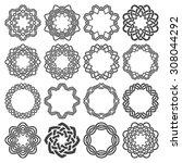 set of magic knotting circles.... | Shutterstock .eps vector #308044292