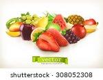 Harvest Juicy Fruit And Berries ...