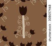 seamless  floral pattern ... | Shutterstock .eps vector #308057468