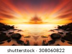 beautiful scenery of sunset... | Shutterstock . vector #308060822