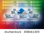 cloud computing devices | Shutterstock . vector #308061305