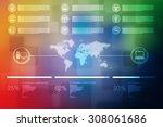 world map business background | Shutterstock . vector #308061686