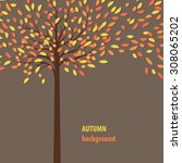 Background With Autumn Tree Fo...