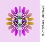 rainbow fractal hippie art design logo flower thing - stock photo