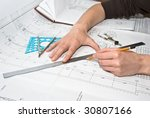 drawing and various tools | Shutterstock . vector #30807166